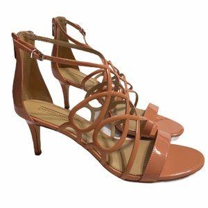 Antonio Melani Coral/Peach Strappy Heels